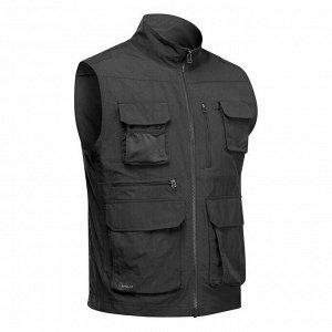 Жилет для путешествий с карманами - TRAVEL 100 серый мужской FORCLAZ