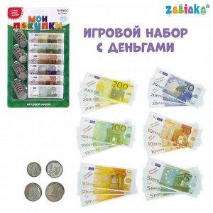 Игрушечный игровой набор «Мои покупки»: монеты, бумажные деньги (евро)