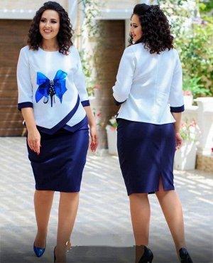 Костюм Очень красивый костюм из ткани турецкого лайта с цветочными принтами