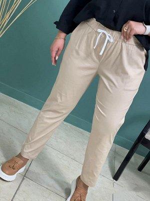 Брюки Ткань:хлопок Талия на резинке Длина изделия 94 см