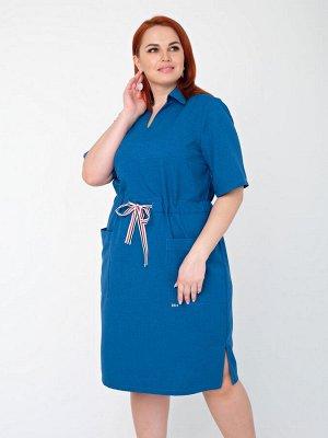 Платье 0085-4 индиго