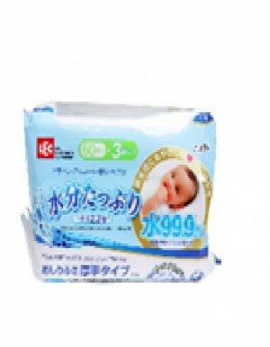 Детские влажные салфетки (плотные, увлажняющие) 180 х 150 мм, 60 штук х 3 упаковки / 8