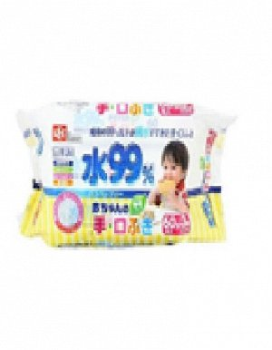 Детские влажные салфетки для лица и рук 180 х 150 мм, 60 штук х 3 упаковки / 8