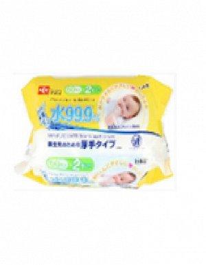 Детские влажные салфетки (для новорождённых и младенцев) 180 х 150 мм, 60 штук х  2 упаковки / 16