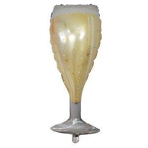 Фигура бокал Шампанского Gold 44см Х 100см