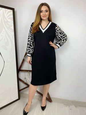 Платье Ткань трикотаж и крепшифон Длина изделия 106 см