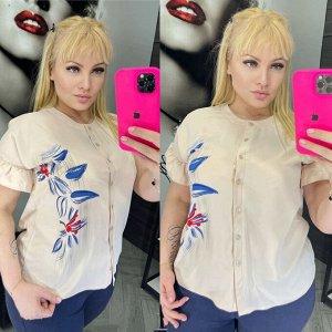 Рубашка Пуговицы рабочие Рукава волан придают образу женственности Ткань:дубайский шёлк