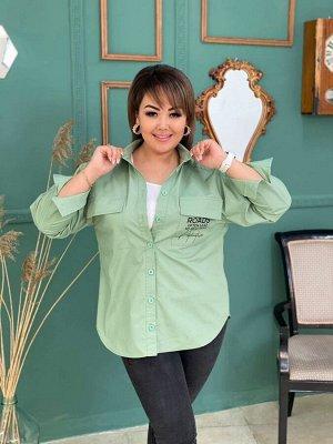 Рубашка Ткань: хлопок с добавлением стрейча Ткань не просвечивает достаточно плотная Объём груди 50р 106см 52р 110см 54р 116см