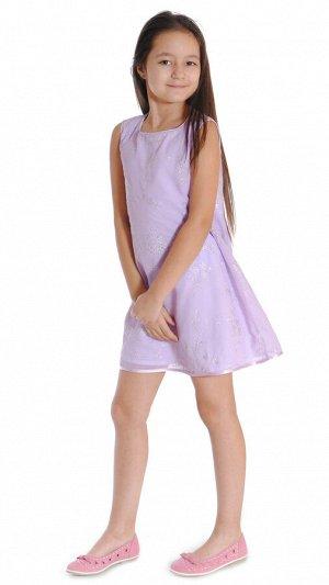 Платье сиреневый (серебряный)