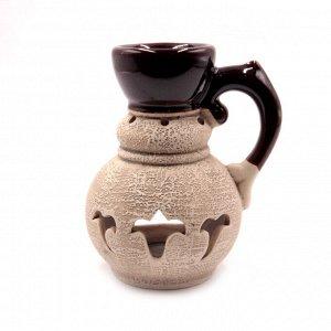 Аромалампа Кувшинчик средний с резьбой 13см-11см керамика