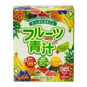 NEW!!! Вкусное фруктовое аодзиру ( из ячменя) Yuwa + 82 вида ферментов +16 видов фруктов 3 г x 20 пакетов