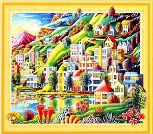 Алмазная мозаика 3D Волшебный город