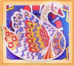 Алмазная мозаика 3D Лебедь