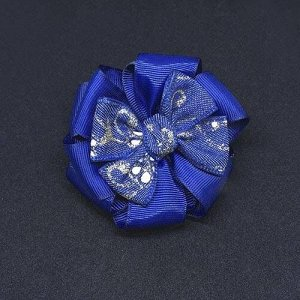 Бант для девочек Жанетт синий с джинсовым верхом