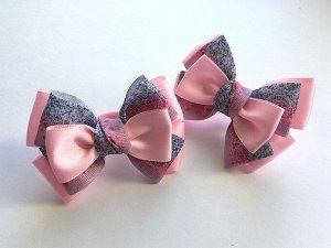 Бантик для девочек Гаити розовый с пестрым