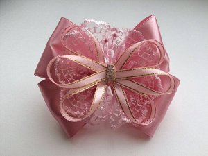Заколка Бант Венеция розовая