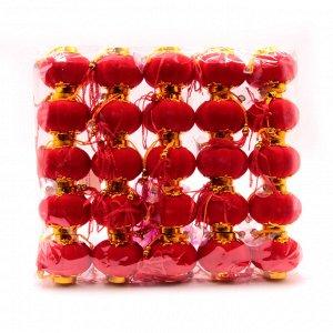 Китайский фонарик Красный праздничный уп-25шт h-4см