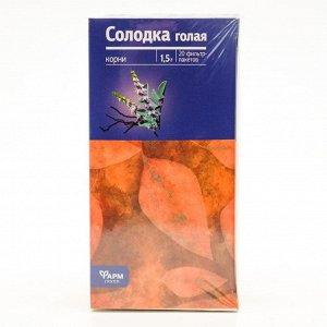 Солодка голая корни, 20 фильтр пакетов по 1.5 г