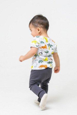 Комплект(Весна-Лето)+baby (яркие тропики, угольный серый)