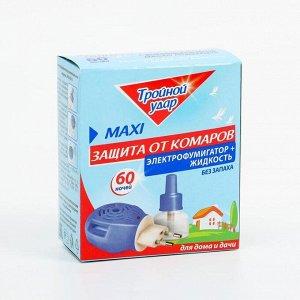 """Комплект от комаров """"Тройной Удар"""", электрофумигатор+жидкость, 40 мл"""