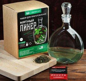 Набор для приготовления напитка Мятный ликер (Штоф 500мл+специи+инструкция) 3946970