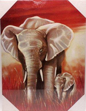 Картина 30*41*2см MD71К195 Слоны