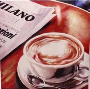 Картина 38*38*2см MD71К082 Чашка с кофе