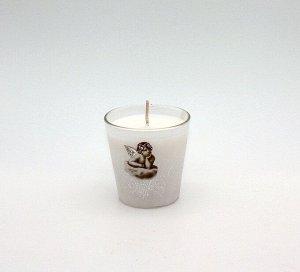 Свеча Хамелеон в Стекле Ангелочки М арома Жасмин 7804
