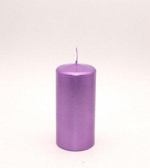 Свеча Пенёк 60*125мм Сиреневый Блеск