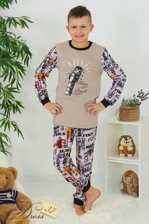 Пижама «Рок» беж