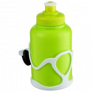 Велофляга STG с флягодержателем детская, цвет зелёный