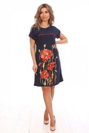 Платье женское М441* маки