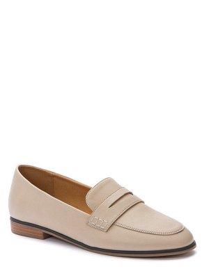 817120/02-01 бежевый иск.кожа женские туфли закрытые (В-Л 2021)