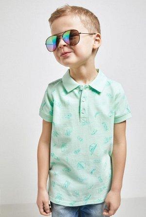 Сорочка-поло верхняя детская для мальчиков Happy голубой