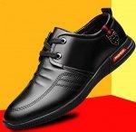 """Мужские туфли, принт """"якорь/полосы"""", цвет черный"""