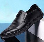 Мужские туфли, цвет черный