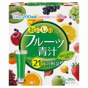 """"""" Аодзиру  100%  с  молочнокислыми  бактерииями и ферментами овощей,  фруктов, растений ( фруктовый вкус) / YUWA /  40 пак.  """""""