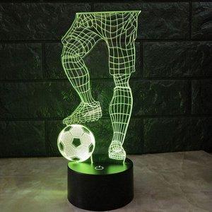"""10708 LED лампа 3D """"Футболист с мячом"""""""
