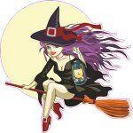 Ведьма на метле.