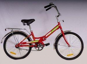 Велосипед Гамма 24 складной ЭКОНОМ (красный)