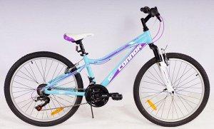 """Велосипед CONNOR EMILIA MTB 24"""" (B) FS 18SP RA25-250 (фиолетово/голубой)"""