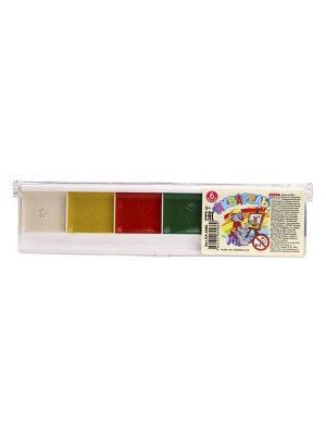 Краски акварельные медовые 6 цв. п/к, б/к КА-4586