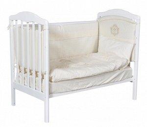 """Детская кровать """"Helen""""(1) а/с, колесо качалка (белый) 12852"""