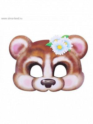 Маска Мишка- девочка 24,2 х 17,6 см карнавальная 5 шт