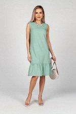 Платье Сью №17. Цвет:зеленый гранит
