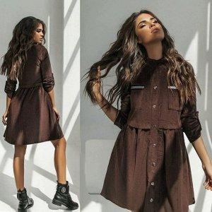 Платье Ткань микро Вельвет