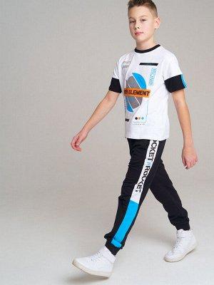 Брюки Состав: 60% хлопок, 40% полиэстер  Цвет: черный, белый, синий  Год: 2021 *Брюки из футера *благодаря высокой посадке брюки не сползают при движении *эластичный пояс с тесьмой позволяет легко