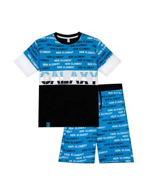 Комплект Состав: 95% хлопок, 5% эластан  Цвет: черный, белый, синий  Год: 2021 *Комплект: футболка, шорты *из качественного эластичного и приятного на ощупь трикотажа джерси *высокое содержание хло
