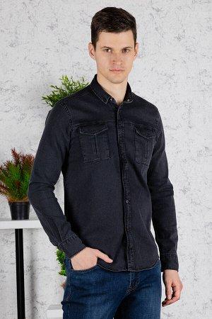 Рубашка Модель: A1-модель. Цвет: чёрный. Комплектация: рубашка. Состав: хлопок-70%,полиэстер-27%, эластан-3%. Бренд: Tricko. Фактура: однотонная. Посадка: casual.