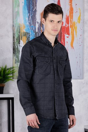 Рубашка Модель: A1-модель. Цвет: чёрный. Комплектация: рубашка. Состав: хлопок-70%,полиэстер-27%, эластан-3%. Бренд: Tricko. Фактура: клетка. Посадка: casual.